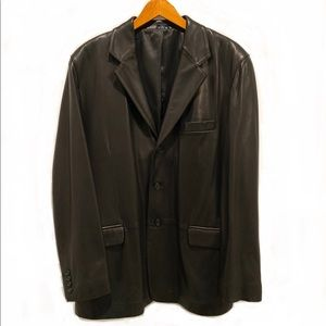 Men's Black Leather Blazer in EUC